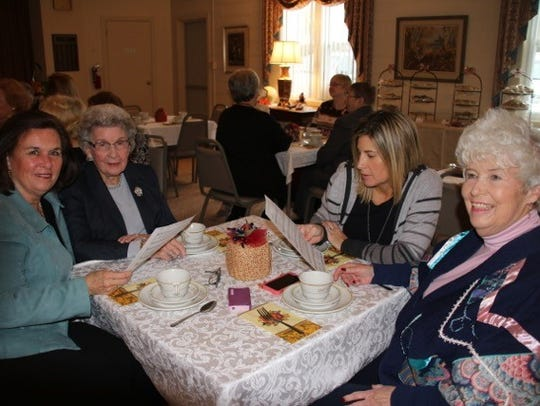Singing along at the Millville Woman's Club's Thanksgiving