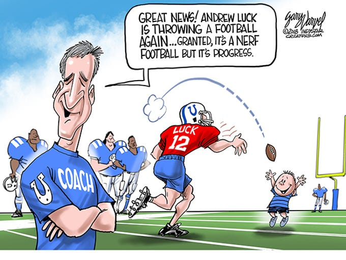 Image result for nerf football andrew luck