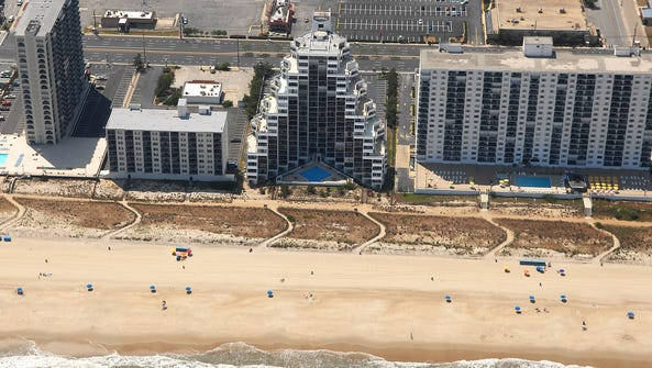 Condos and hotels in north Ocean City as seen from
