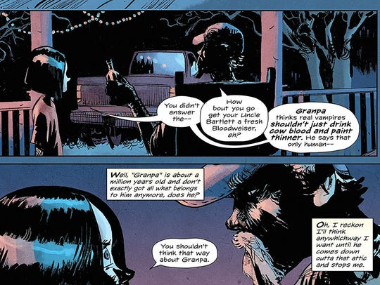 The comic book 'Redneck' follows a family of vampires