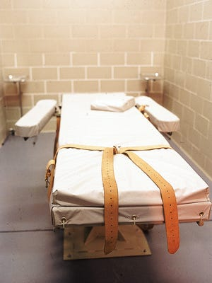 The lethal-injection execution chamber at the Arizona State Prison in Florence.