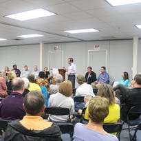 Iowa City Community School Board candidates spoke during an election forum on Aug. 29, 2015.