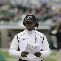 """Purdue coach Darrell Hazell: """"We still have six games left. We're not writing this season off. A lot of times people remember how you finish."""""""