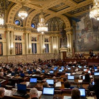 In this AP file photo, members of the Pennsylvania House of Representatives debate the budget, Tuesday, Dec. 8, 2015, at the state Capitol in Harrisburg, Pa. (AP Photo/Matt Rourke)