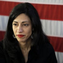 Huma Abedin with Hillary Clinton in 2011 (Pablo Martinez Monsivais, AP)