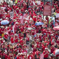 Arizona teachers, supporters head to Capitol to demand raises, more education funding