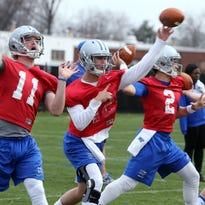 The MTSU quarterbacks race is still wide open between Brent Stockstill, left, and Austin Grammer.
