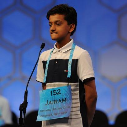 Jairam Hathwar, 13, of Painted Post, N.Y., correctly