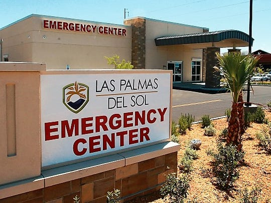 Las Palmas Del Sol Healthcare has started construction of its third free-standing emergency center at 4740 Loma Del Sur in Northeast El Paso. It will look similar to its East El Paso ER, pictured here, at 1951 N. Zaragosa Road.