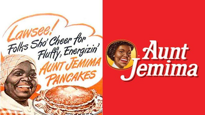 An example of advertising for Aunt Jemima pancakes that perpetuated racial stereotypes in the American consciousness