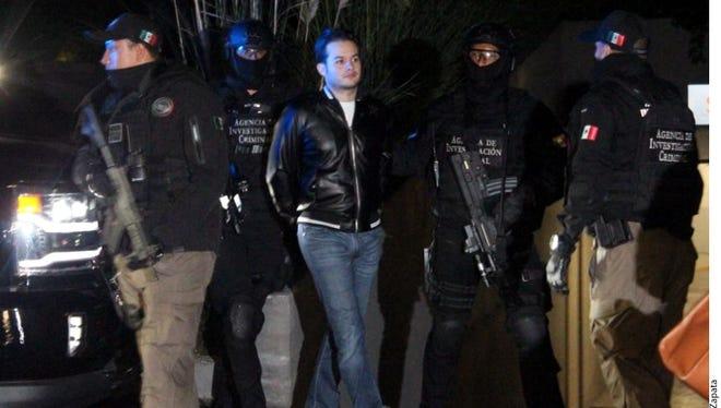 """Víctor Manuel Félix Beltrán, """"El Vic"""", considerado el principal operador financiero de los hijos del capo Joaquín """"El Chapo"""" Guzmán, fue detenido en la zona de Santa Fe por elementos  de la Agencia de Investigación Criminal."""