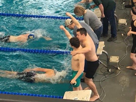 Waynesboro's boys 4x100 freestyle relay finished third