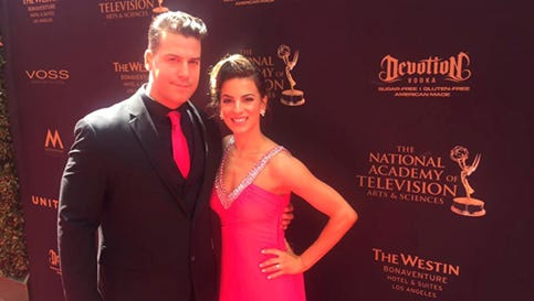 NJ-based Devotion Vodka was prominent along the Red Carpet at the 43rd Annual Day Time Emmy Awards.  Mike Calleja (Linden, NJ), COO of Devotion Vodka is joined on the red carpet at the 43rd Annual Daytime Emmy Awards by his wife, actress Renee Marino (Linden, NJ), who played Mary Delgado in the hit movie Jersey Boys.