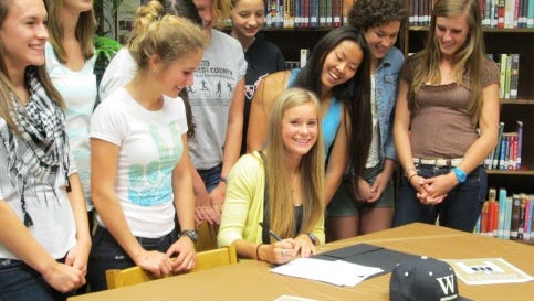 North Buncombe alum Faith Jewkes signed with the Wofford track and field program last spring.