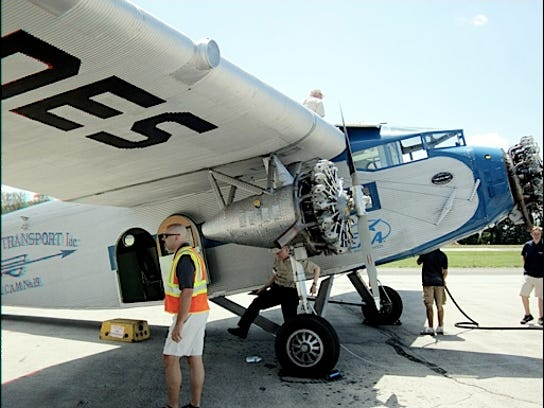 Coming Event Ford Tri Motor Airplane Arriving