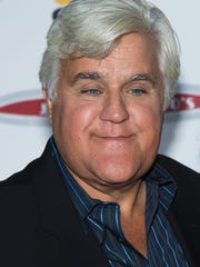 """FILE -- Jay Leno attends """"Jay Leno's Garage"""" series launch party at The Press Lounge at Ink 48 on Wednesday, Oct. 7, 2015, in New York. (Photo by Charles Sykes/Invision/AP)"""