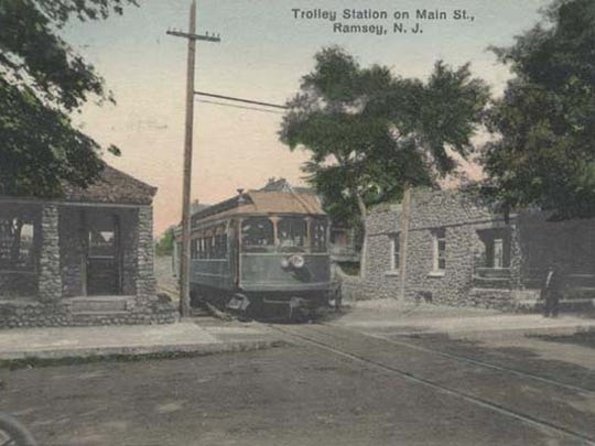 The old NJRT - North Jersey Rapid Transit - trolley line used to travel through Ramsey from 1911 to 1928. The right-of-way has now been converted into a  rail trail - one of 50 in NJ.
