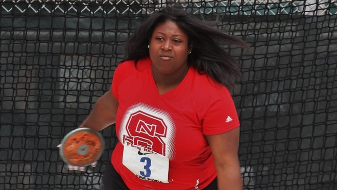 Roberson alum SeQuoia Watkins is a thrower at N.C. State.