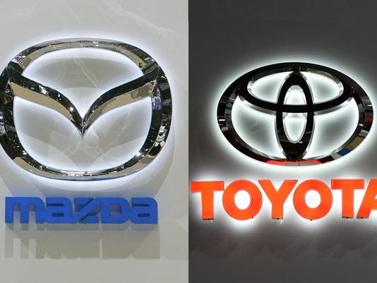 The logo of Japanese carmaker Mazda is s