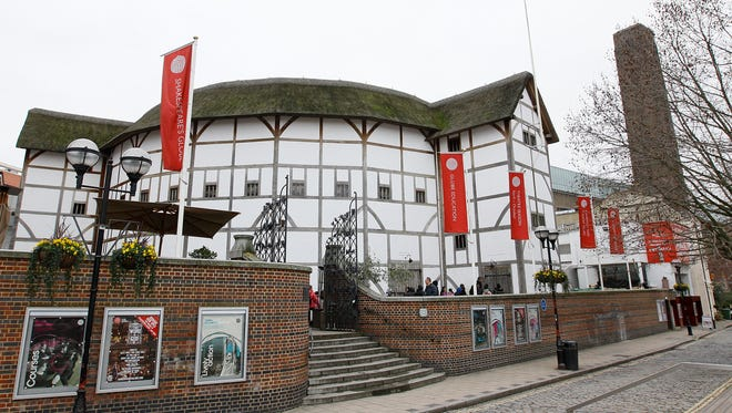 Shakespeare's Globe theater is seen on the south bank of the River Thames in London, Jan. 24, 2011.