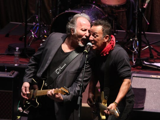 Joe Grushecky, shown performing with Bruce Springsteen at the Light of Day Festival at the Paramount Theatre in Asbury Park in 2014.