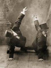 """Juliette Fay's great- grandfather, Fred Delorme (right), was a vaudeville dancer in Broome County and helped to inspire her new book, """"The Tumbling Turner Sisters."""""""