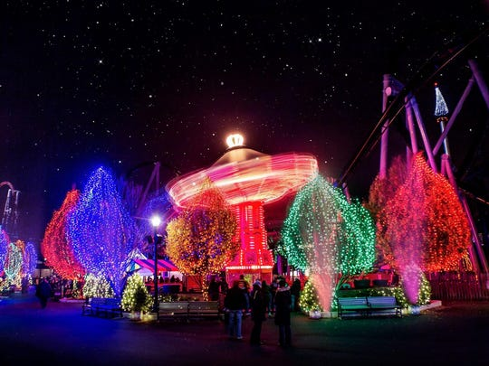 Christmas Candylane at Hersheypark features more than 4 million lights.