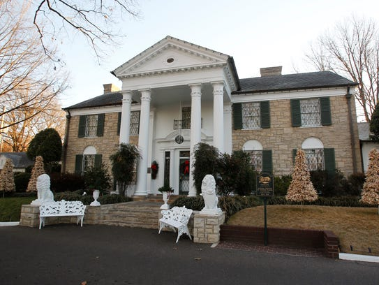 Graceland, Elvis Presley's home, in January 2011.