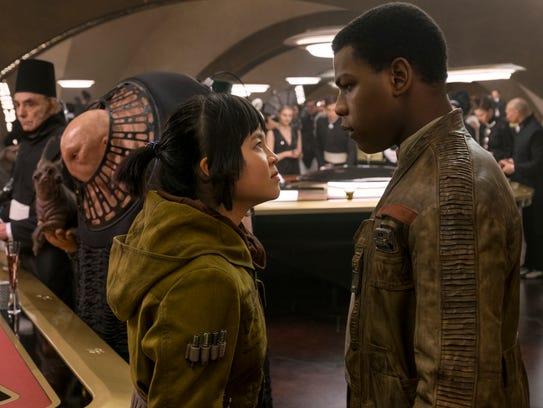 "Kelly Marie Tran, left, and John Boyega star in ""Star"