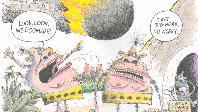 Climate change deniers as cave-dwellers