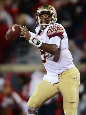 Quarterback Jameis Winston threw three interceptions,