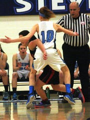 Stevenson's Grace Lamerson  and her teammates played