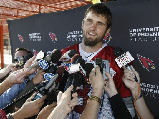 Arizona quarterback Derek Anderson addressed the media after practice on Dec. 1, 2010 and apologized for his post game outbust following the Monday Night Football loss to the San Francisco 49ers.