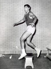 Jim Valvano as a Rutgers captain.