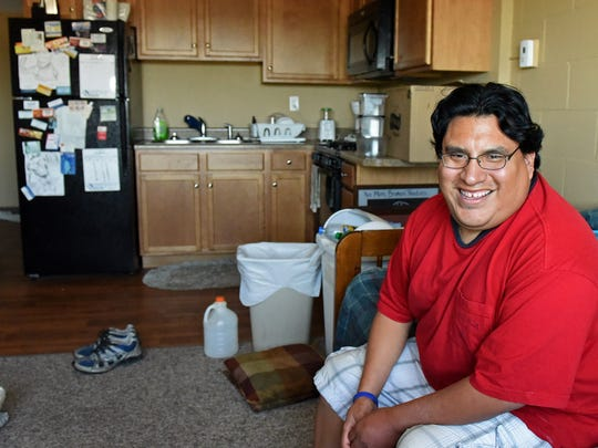 Leon Adams lives at River Tower Apartments in Sioux