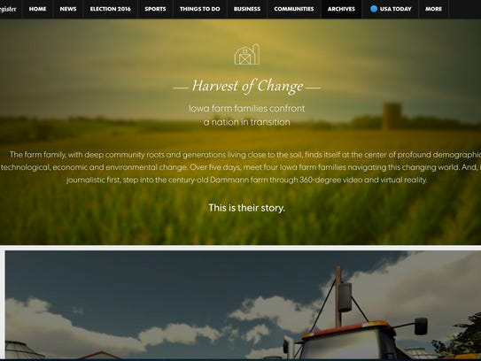 'Harvest of Change' is an award-winning VR tale about