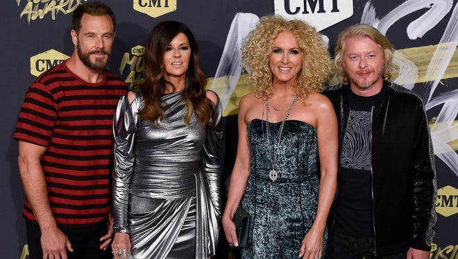Little Big Town on the red carpet at the 2018 CMT Awards Wednesday, June 6, 2018, at Bridgestone Arena in Nashville, Tenn.