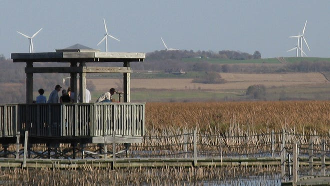 Most biologists discount the theory that a large wind farm built in 2008 near the Horicon National Wildlife Refuge has caused Canada geese to avoid the refuge.