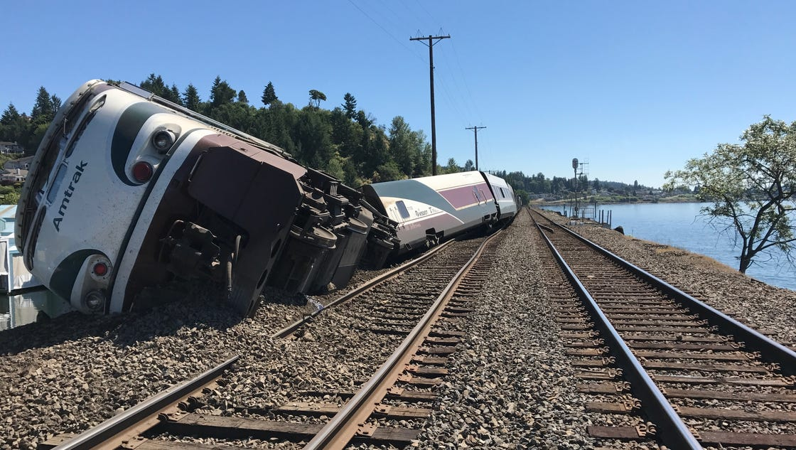 Amtrak train derails near Tacoma; no major injuries
