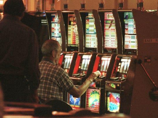 Patrons gamble at a HoChunk casino.