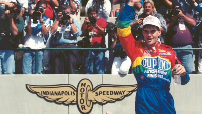 NASCAR and IndyCar officially started playing nicely together at the Inaugural Brickyard 400 in 1994, won by Jeff Gordon.