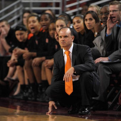 Oregon State women's basketball coach Scott Rueck.