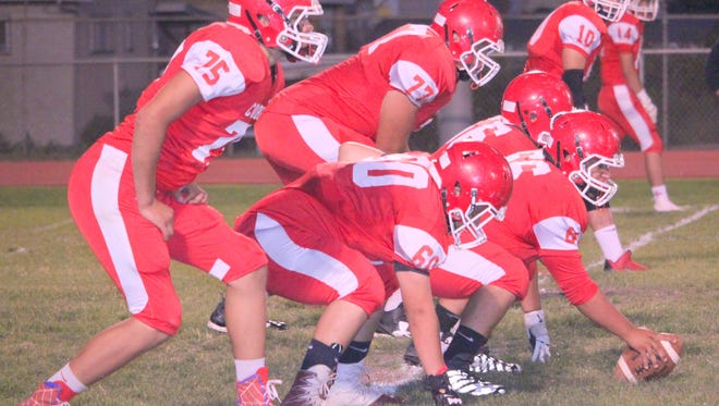Cobre High's offenisve line will be without two players when the Indians travel to race Lordbsurg on  Friday night.