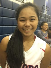 Okkodo Lady Bulldogs Danica Cabrera led her team in an IIAAG girls basketball game against the Academy Cougars with 12 points.