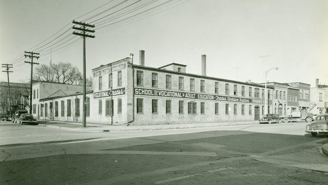 The Globe Foundry building which later held the Sheboygan Vocational School Trades Division at 9th and Penn.