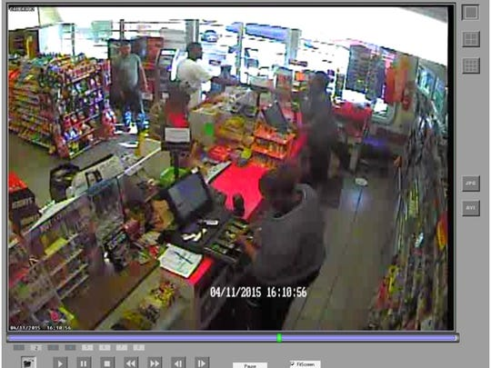 Police are seeking the man in the white shirt for questioning in the shooting of Alfredo Ramirez, 73.