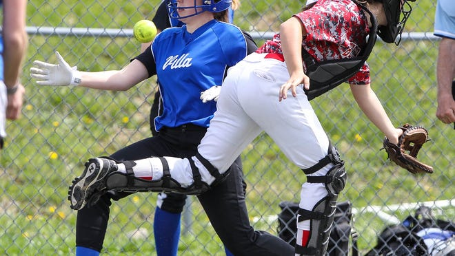 Villa Madonna's Kylee Newman scores during Saturday's 6-2 win at Beechwood. It was Villa's first win over the Tigers since 2011.