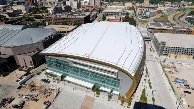 The Marquette men's basketball team will be playing in the Fiserv Forum next season.