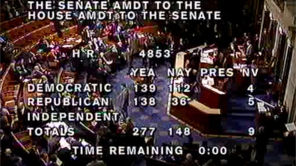 C-SPAN only broadcasts the House floor when the chamber
