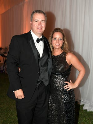Mary Kate and Josh Brown at the 44th annual Heritage Ball Saturday, Sept. 16, 2017 at the Eastern Flank Battleground Park in Franklin, Tenn.